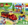 LEGO 10874 DUPLO Town Steam Train for Toddlers, Light & Sound, Push & Go Battery Powered Toy for Kids Age 2-5