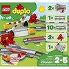 LEGO 10882 DUPLO Town Train Tracks Building Set with Red Action Brick