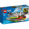 LEGO City - Le transport du bateau de course (60254)