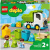 LEGO DUPLO Town Garbage Truck and Recycling Toy for Toddlers (10945)