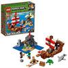 LEGO Minecraft (21152). Avventura sul galeone dei pirati