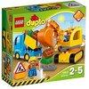 LEGO DuploTown CamioneScavatriceCingolata, Set di Costruzioni Prescolare con Mattoni Grandi, Giocattoli per Bambini dai 2 a 5 Anni, 10812