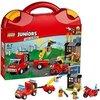 LEGO- Juniors Valigetta dei Pompieri Costruzioni Piccole Gioco Bambina Giocattolo, Multicolore, 10740
