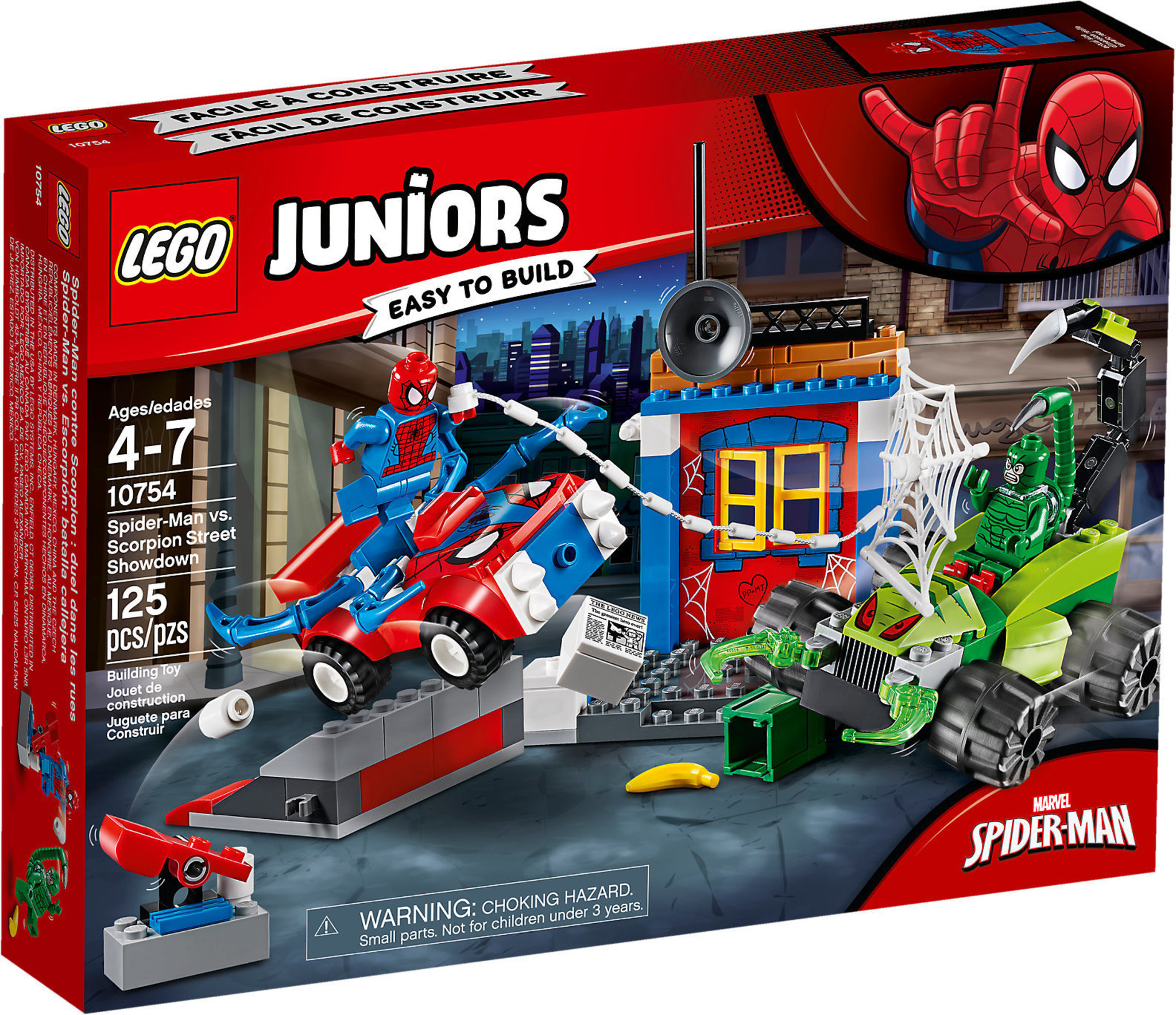 10754 Man VsScorpion Lego Street Showdown Juniors Spider 3KJlcFT1