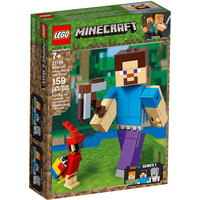 Bigfigurine Minecraft™ Steve Et Son Perroquet