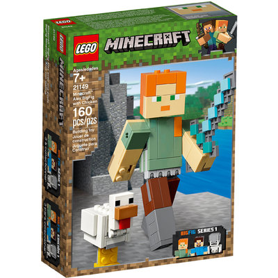 Bigfigurine Minecraft™ Alex Et Son Poulet