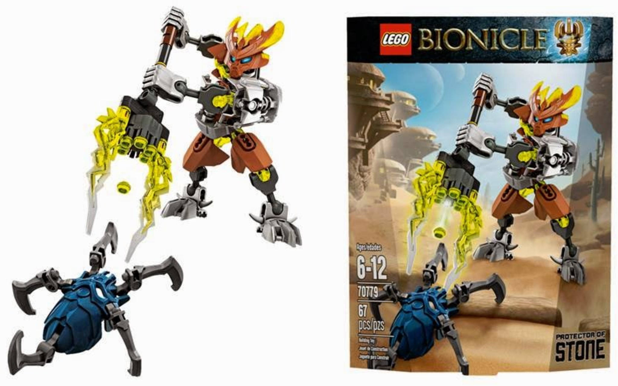 leaflet-cn187 Lego 70779 bionicle protector of stone complete 2015