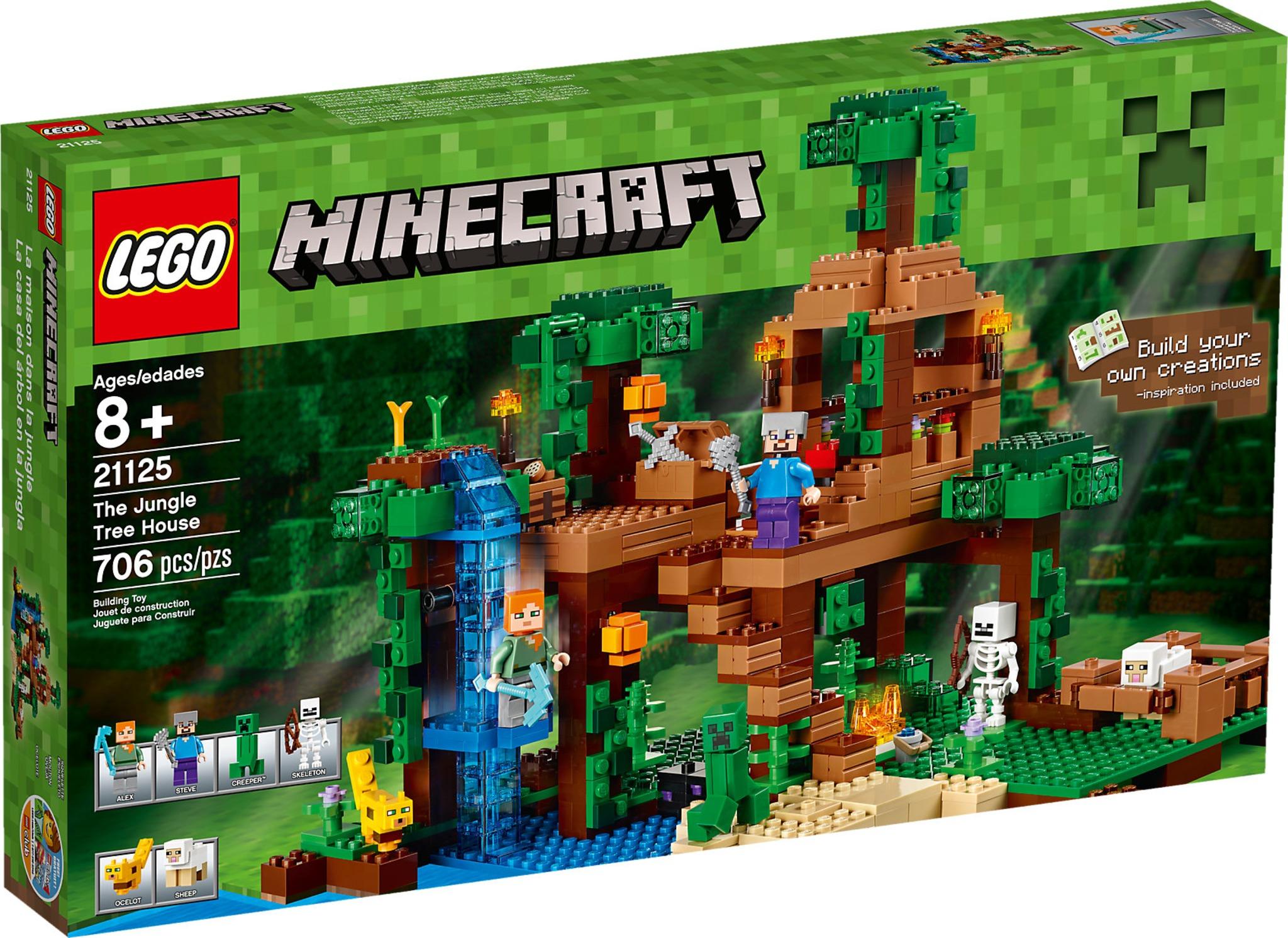 best cheap shoes for cheap recognized brands LEGO Minecraft 21125 - La Casetta sull'Albero della Giungla