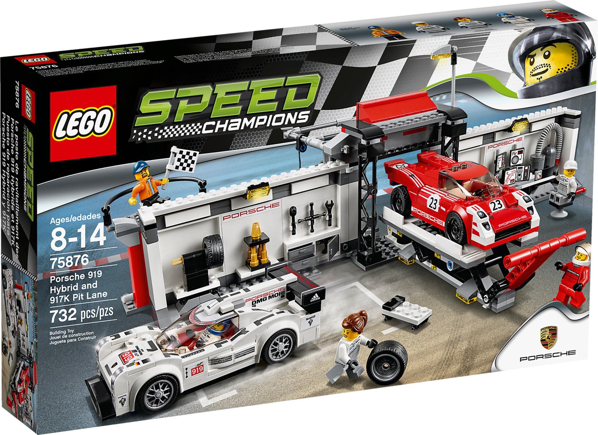 lego speed champions 75876 porsche 919 hybrid and 917k pit lane mattonito. Black Bedroom Furniture Sets. Home Design Ideas