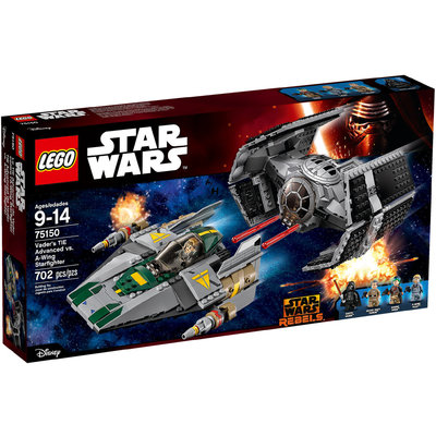 Tie Advanced Di Vader Contro A Wing Starfighter