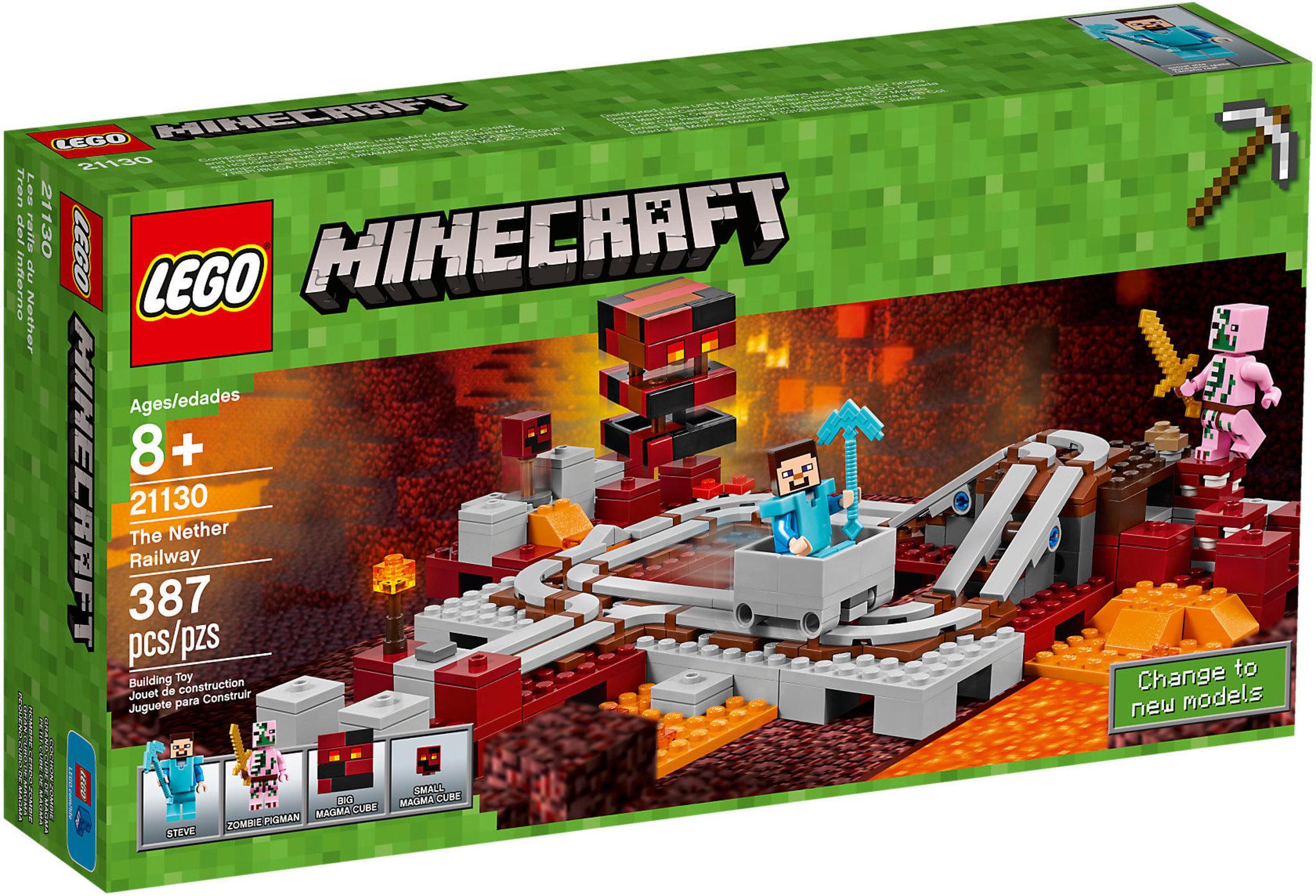 superior quality new design later LEGO Minecraft 21130 - La Ferrovia Del Nether
