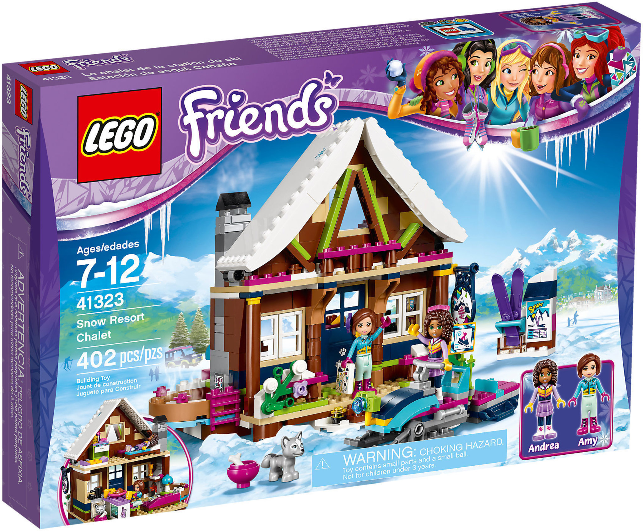 Lego Friends 41323 Snow Resort Chalet Mattonito
