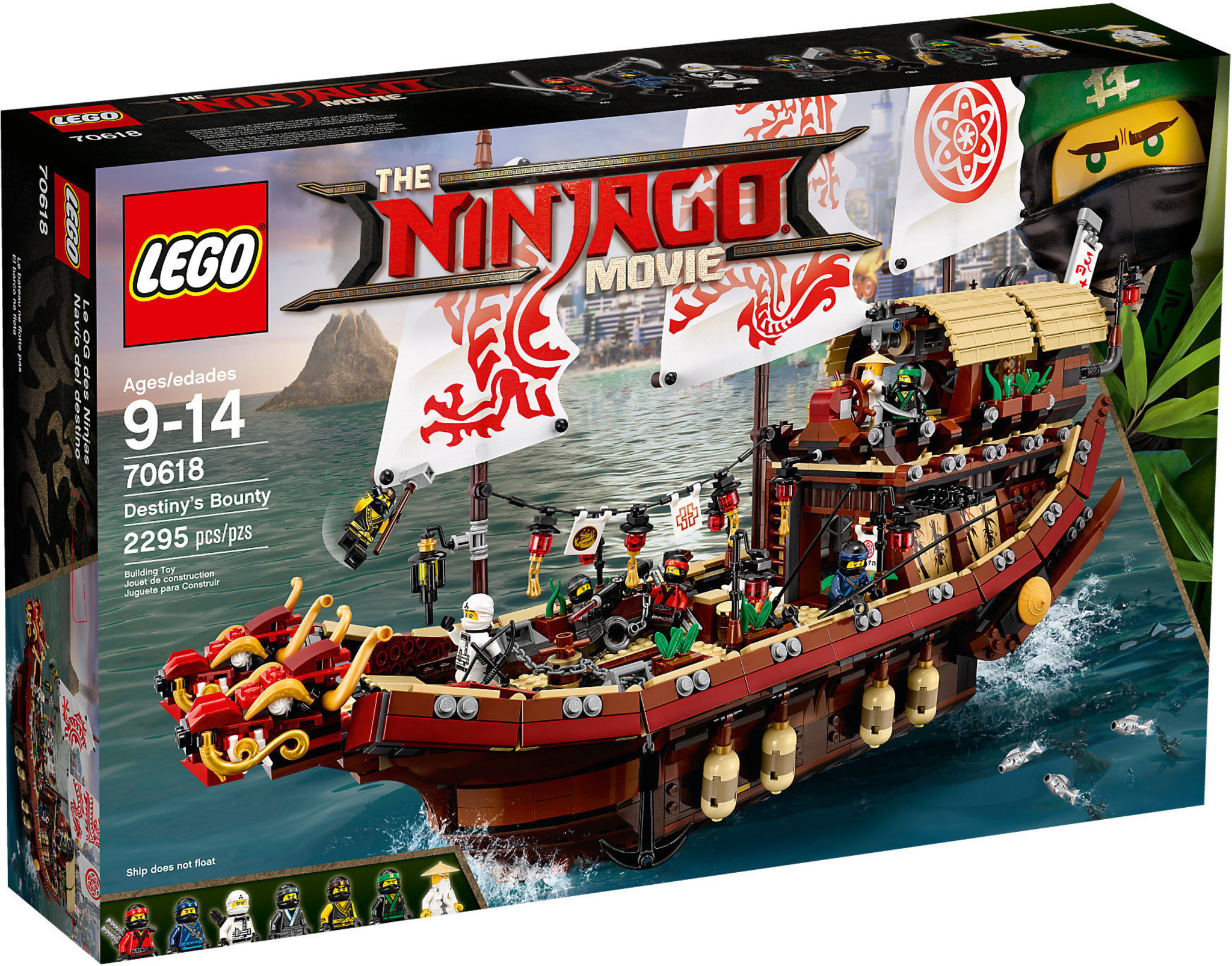 Lego ninjago movie 70618 vascello del destino mattonito