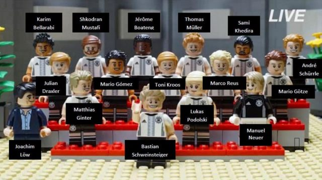 71014 lego dfb german football team minifigure giocatori 461