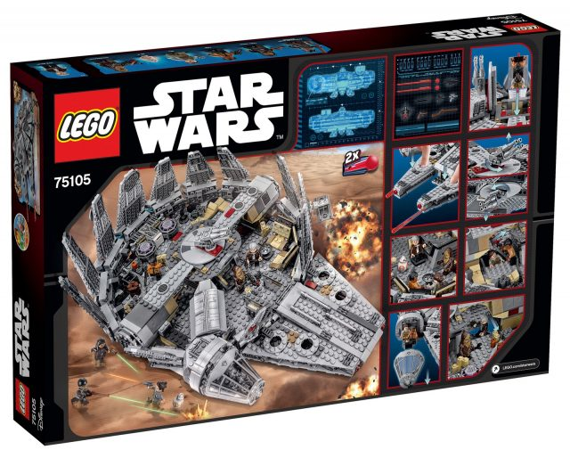 75105 Millennium Falcon box retro