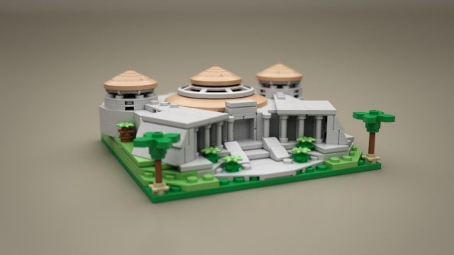 Lego Ideas Micro Jurassic Park Visitor center