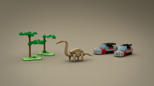 Lego Ideas Micro Jurassic Park brachiosaurus safari