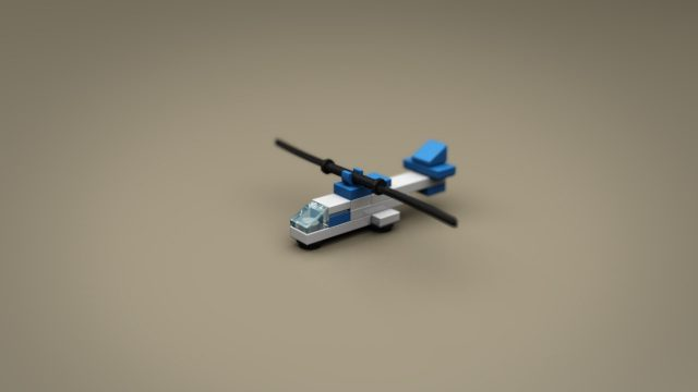 Lego Ideas Micro Jurassic Park helicopter