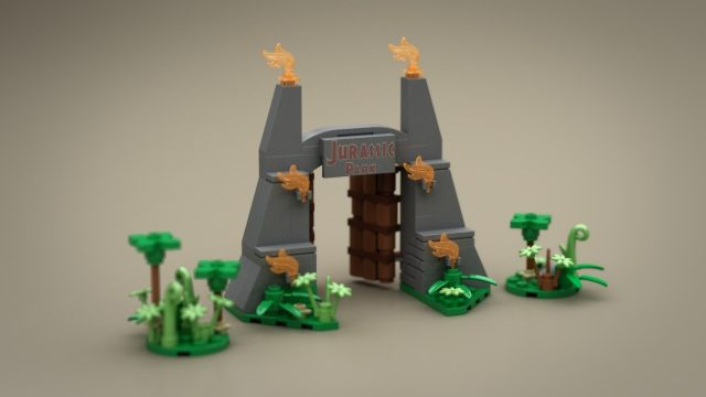 Lego Ideas Micro Jurassic Park main gate