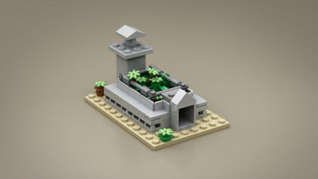 Lego Ideas Micro Jurassic Park raptor pit