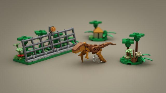 Lego Ideas Micro Jurassic Park t rex