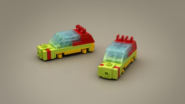 Lego Ideas Micro Jurassic Park tour cars
