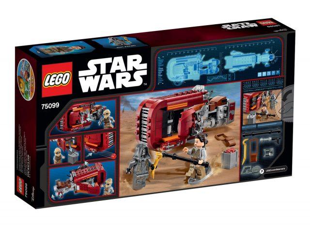 lego 75099 Rey s Speeder scatola retro