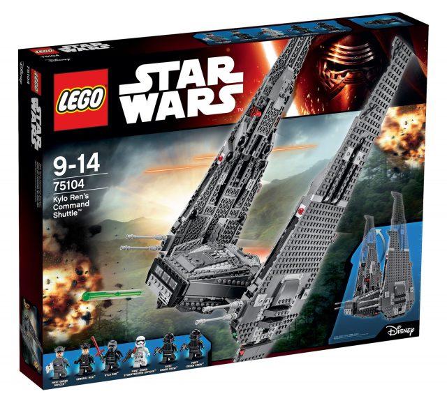 lego 75104 kylo ren scatola shuttle scatola