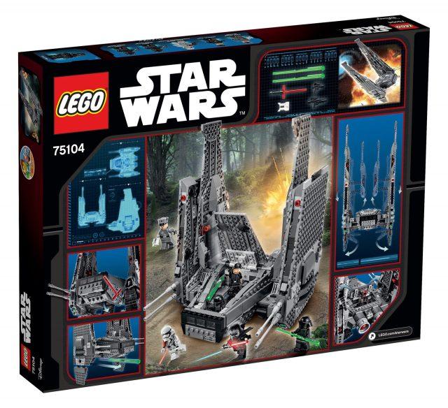 lego 75104 kylo ren shuttle scatola retro