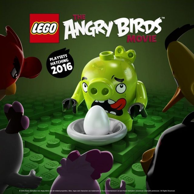 lego angry birds maialino verde