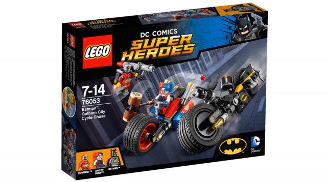 lego dc comics super heroes gotham city cycle chase 76053