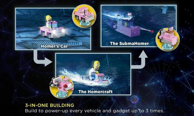 lego dimensions costruzioni alternative homer