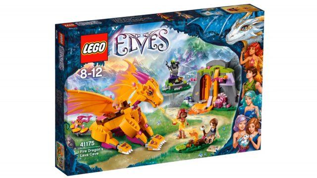 lego elves fire dragon s lava cave 41175