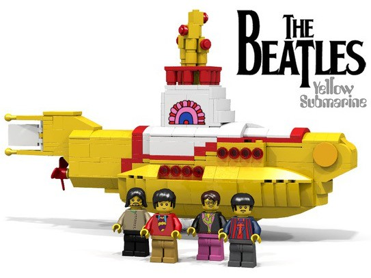 lego ideas beatles yellow submarine banner