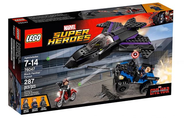 lego marvel super heroes captain america civil war black panther pursuit 76047