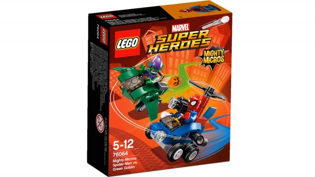 lego marvel super heroes mighty micros spider man vs green goblin 76064