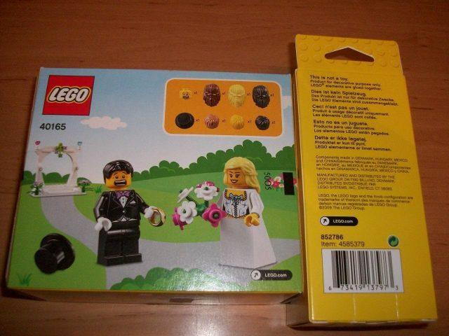 lego minifigure wedding favor set 40165 2 345