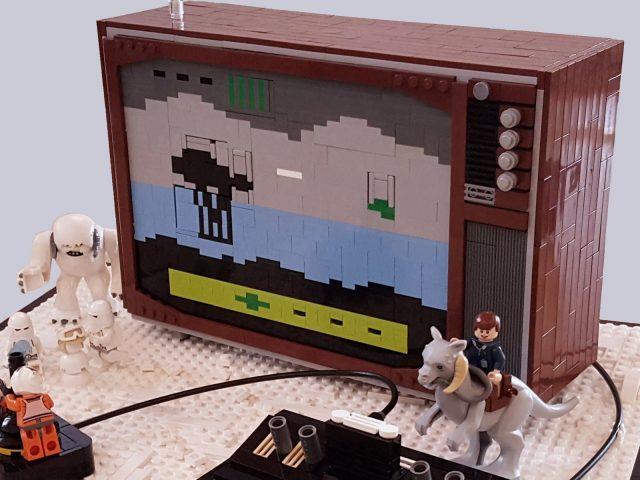 lego moc star wars empire strikes back atari 2600 tv