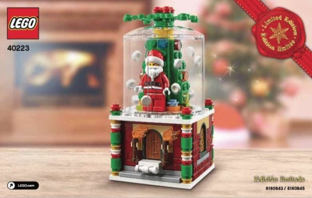 lego seasonal 2016 christmas ornament 40223