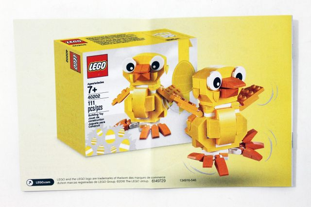 lego seasonal easter chick 40202