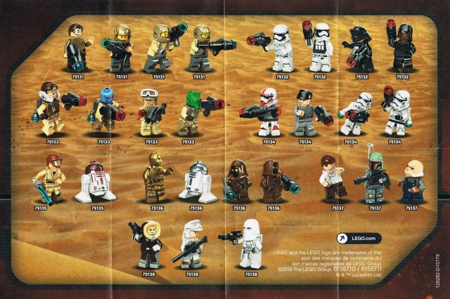 lego star wars 2016 minifigure