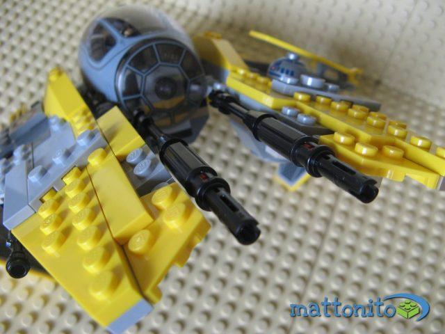 lego star wars 75038 jedi interceptor cannoni frontali