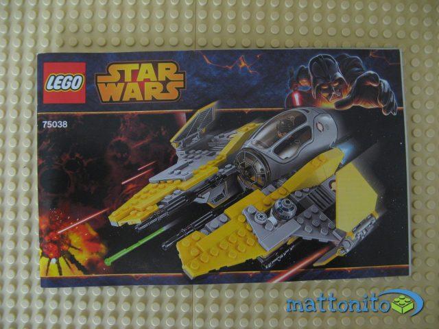 lego star wars 75038 jedi interceptor istruzioni