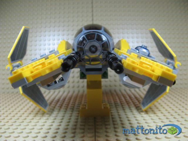 lego star wars 75038 jedi interceptor nave fronte