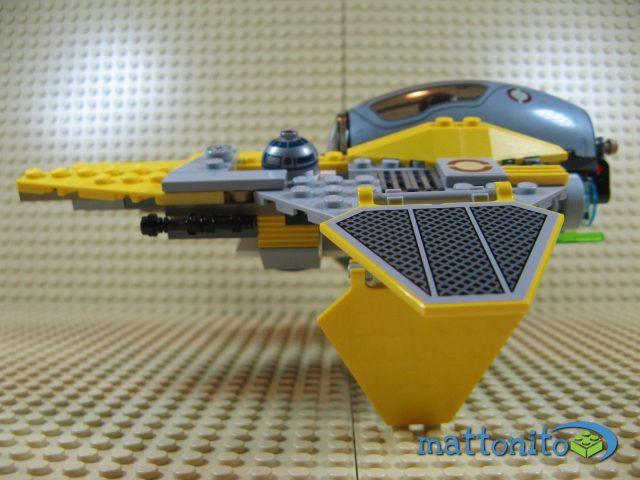 lego star wars 75038 jedi interceptor nave lato