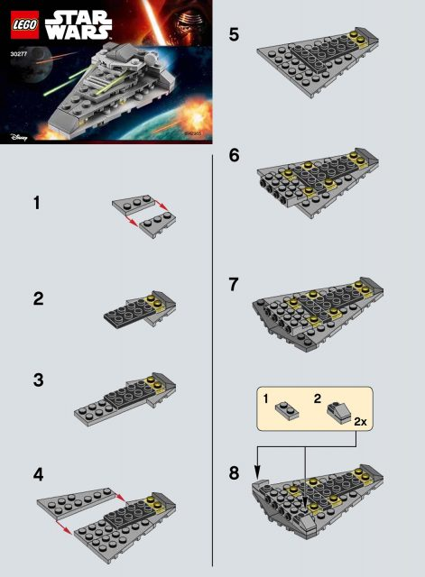 lego star wars the force awakens first order star destroyer 30277