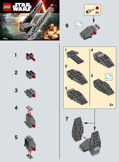 lego star wars the force awakens kylo ren s command shuttle 30279