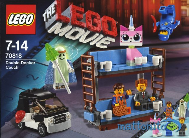 the lego movie 70818 divano a castello scatola fronte
