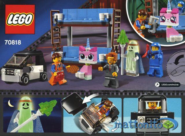 the lego movie 70818 divano a castello scatola retro