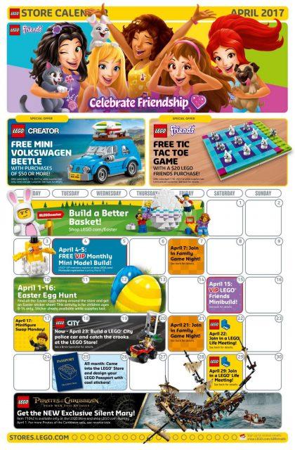 Calendario LEGO® Store Aprile 2017